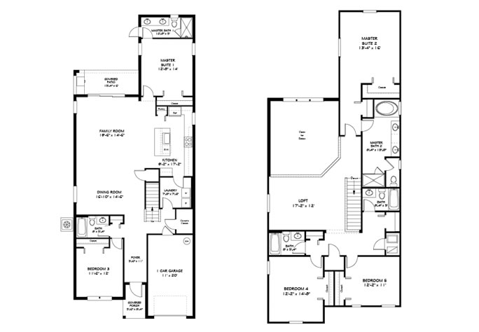 Floor Plan for 8925SP. Stunning 5 Bedroom 5 Bath Home  In Paradise Palms Resort