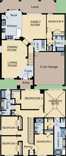 Floor Plan for 2538AB. Windsor Hills Resort 6 Bedroom 4 Bath Pool Home in Kissimmee